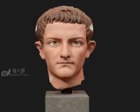 卡利古拉皇帝蛋彩雕塑模型,古罗马希腊雅典宗教神话人物,头像石膏像雕像青铜像