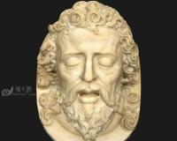 耶稣石膏像,络腮胡子男人头像,古罗马希腊雅典宗教神话人物,雕像青铜像雕塑模型