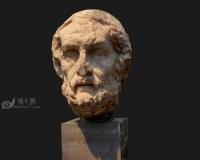 荷马石膏头像3d模型,男人头像,石膏像雕像青铜像雕塑