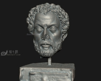 破损的男人石膏头像,古罗马希腊雅典宗教神话人物人体模型,石膏像雕像青铜像雕塑