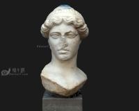 破损女人石膏头像3d模型,石膏像雕像青铜像雕塑
