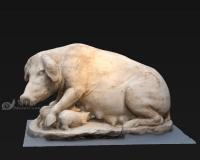 母猪与猪崽,小猪野猪,哺乳动物家畜石膏像雕像青铜像雕塑