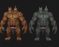 两款肤色的食人魔,蓝胖,巨人,泰坦,吸血鬼