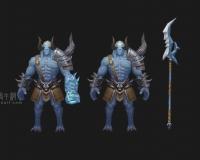 牛角魔王两款,幽冥使者,骷髅王,夜叉王,怪物,魔物
