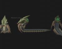 蜈蚣精,百足兽,铁甲虫,铁线虫