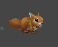 小松鼠3d模型下载