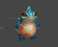 蓝纹蛙,小蛙妖,青蛙精,娃宝宝,娃人