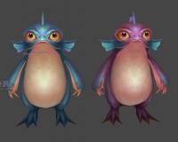 蓝纹蛙2,小蛙妖,青蛙精,娃宝宝,娃人