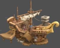 卡通木船,船屋,海盗船,船锚,渔船