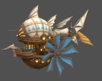 奇幻飞艇,飞船,木船