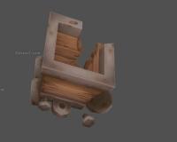 损坏的矿车,四轮车,木头运输车