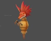 稻草人,红色蜥蜴头,布娃娃,玩偶草人