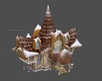 雪地房子,卡通小房子