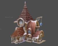 雪地房子,卡通小房子2
