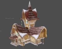 雪地房子,卡通小房子,邮箱,邮筒,信件