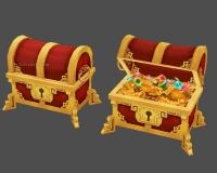 黄金宝箱,宝藏,打开的宝箱,金银珠宝,钻石