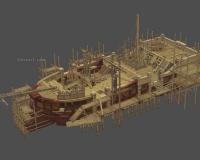 造船厂,大船修葺,木船维修