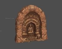 莫高窟佛像,敦煌遗迹,沙漠石壁石墙