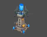 水晶塔,水晶柱,水晶箭塔,悬浮水晶石,蓝色水晶石头,魔法水晶塔机关3d模型