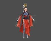 女武士,女战神,红袖女将,古代女人3d模型