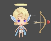 爱神丘比特,小天使,小男孩,爱情箭,天使男孩3d模型