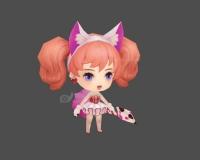 可爱小女孩,猫耳时装,小公主,小妹妹,红发小女孩,小萝莉3d模型